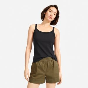 Everlane Cotton Cami, XS, black
